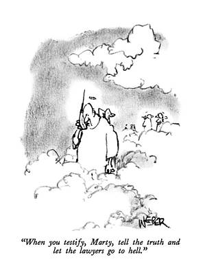 Angels Drawing - When You Testify by Robert Weber