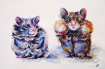 Hamster Painting - Where Are The Biscuits by Zaira Dzhaubaeva