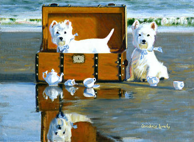 Teapot Painting - Where Are The Cookies by Candace Lovely