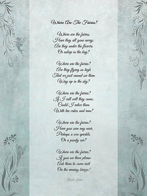 Fairy Poem Wall Art - Photograph - Where Are The Fairies by Randi Kuhne