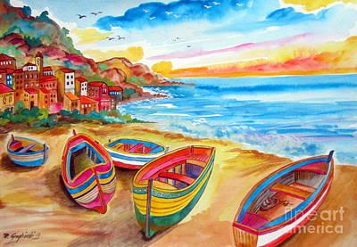 Where Are The Fishermen Gone Art Print by Roberto Gagliardi