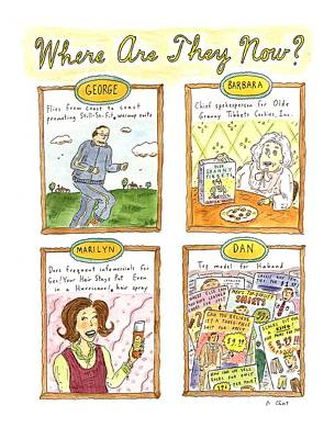 George Bush Wall Art - Drawing - Where Are They Now? by Roz Chast