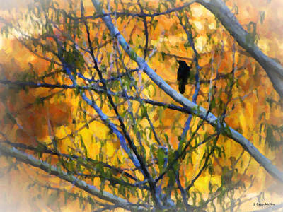 Starlings Painting - Where Are You My Little Bird by Jo-Anne Gazo-McKim