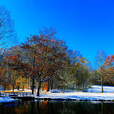 Where Autumn Falls Into Winter Art Print by Jeff Picoult