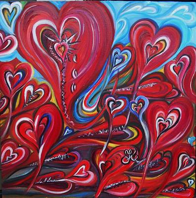 Painting - Where Broken Hearts Go by Yesi Casanova