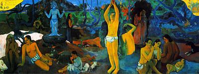 Going Green Painting - Where Do We Come From. What Are We Doing. Where Are We Going by Paul Gauguin