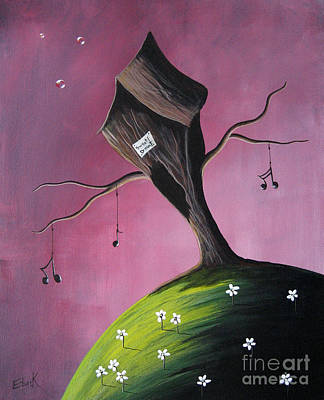 Floating Girl Painting - Where Dreams Are Made By Shawna Erback by Shawna Erback