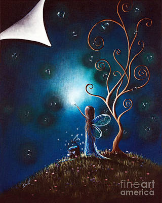 Midsummer Painting - Fairy Art By Shawna Erback by Shawna Erback