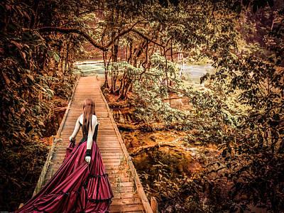 Where Is The Bridge Going? Art Print by Catherine Arnas