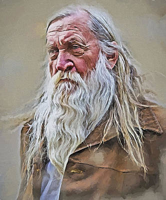 Old Man Digital Art - Where Is The Lord Of Rings by Yury Malkov