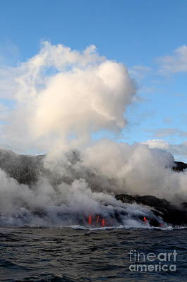 Photograph - Where Lava Meets The Ocean 5 by Theresa Ramos-DuVon