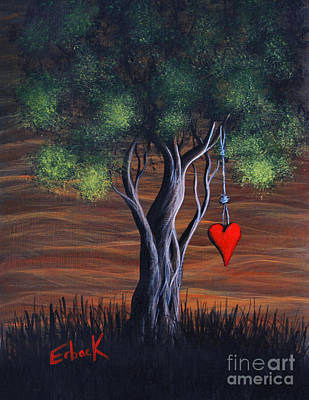 Red Cliffs Painting - Where Love Grows By Shawna Erback by Shawna Erback
