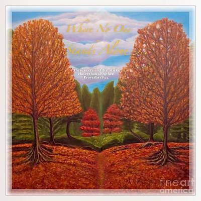 Tree Roots Painting - Where No One Stands Alone I by Kimberlee Baxter