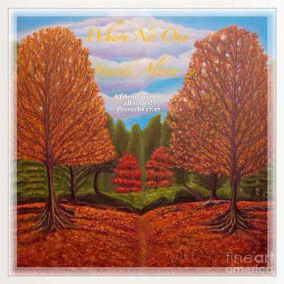 Tree Roots Painting - Where No One Stands Alone II by Kimberlee Baxter
