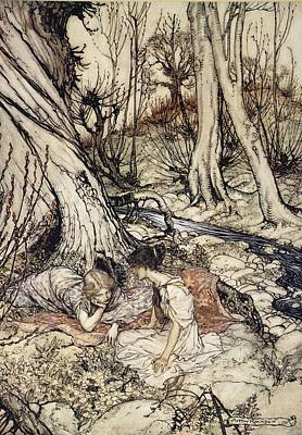 Drawing - ..where Often You And I Upon Faint by Arthur Rackham