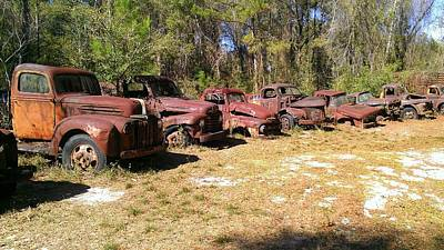 Photograph - Where Old Vehicles Go by Lew Davis