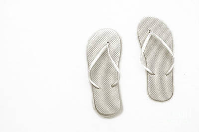 Photograph - Where On Earth Is Spring - My Silver Flip Flops Are Waiting by Andee Design