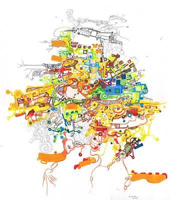 Drawing - Where by Regina Valluzzi