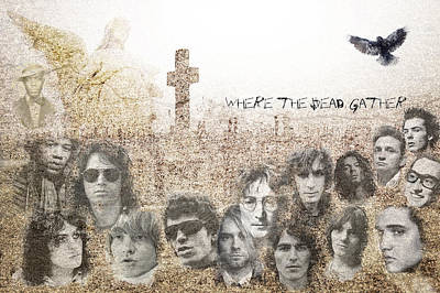 Marc Bolan Photograph - Where The Dead Gather by Stephen Walker