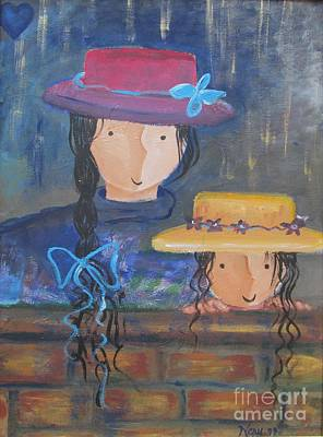 Art Print featuring the painting Where The Heart Is. by Nereida Rodriguez
