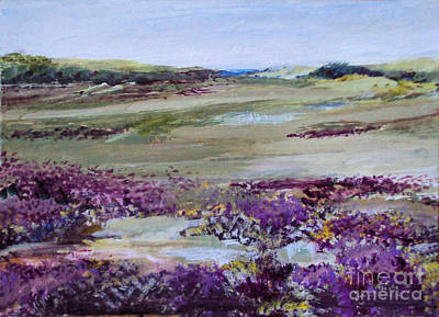 Painting - Where The Heather Grows by Diane Ursin