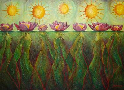 Painting - Where The Lotus Blooms by Claudette Dean
