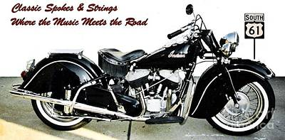Photograph - Where the Music Meets the Road by Classic Spokes And Strings