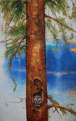 Painting - Where The Owl Sleeps by Richard Hinger