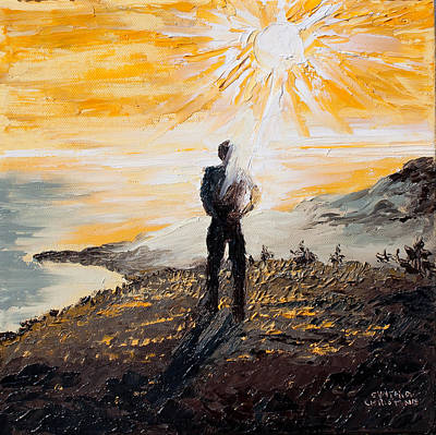 Go West Young Man Painting - Where The Sky Begins And The Ocean Ends by Cynthia Christine
