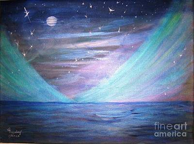 Where The Sky Meets The Sea Art Print by Betty and Kathy Engdorf and Bosarge
