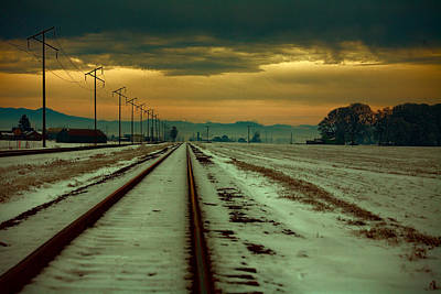 Telephone Poles Photograph - Where The Tracks Lead by Bonnie Bruno