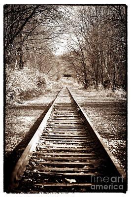 Where The Tracks Lead Art Print