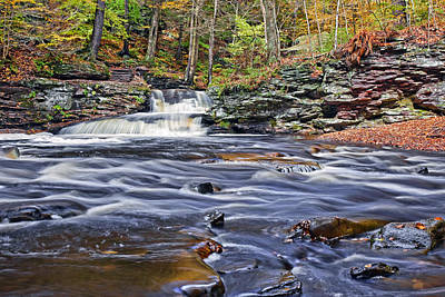 Leaves Photograph - Where The Waters Meet Glen Leigh by Marcia Colelli