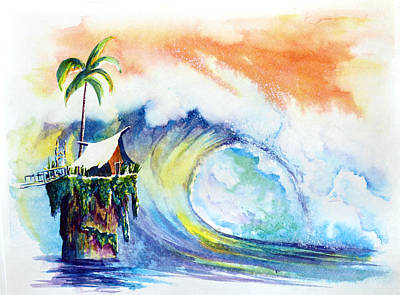 Big Wave Painting - Where The Wild Ones Call Home by Nelson Ruger