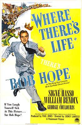 Where Theres Life, Us Poster, Bob Hope Art Print