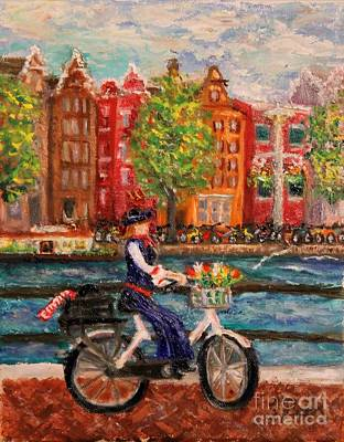 Painting - Where To ... Amsterdam by Tracey Peer