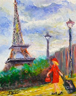 Painting - Where To .... Paris  by Tracey Peer