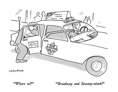 Indecision Drawing - Where To? Broadway And Seventy-ninth! by Michael Crawford