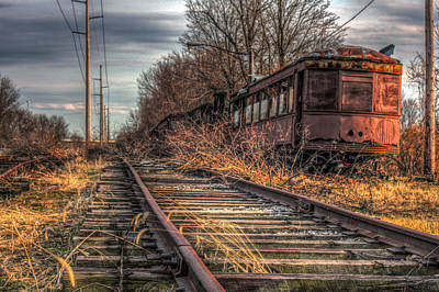 Where Trains Go To Die Art Print by Gary Fossaceca