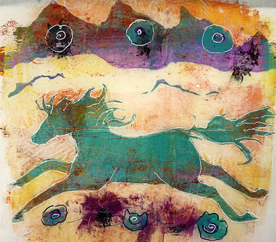Where Wild Horses Roam Art Print by P Maure Bausch