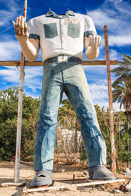 Whered It Go Muffler Man Statue Art Print