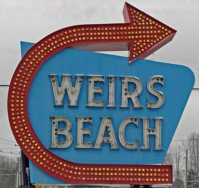 Where's Weirs? Art Print by Barbara McDevitt