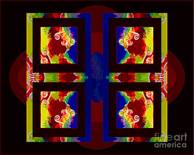 Painting - Which Way Is Up Abstract Healing Art by Omaste Witkowski