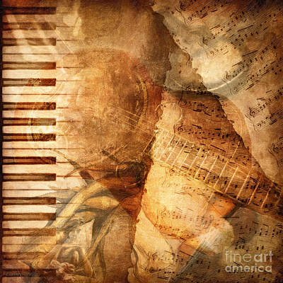 Music Digital Art - While My Guitar Gently Weeps by Lianne Schneider