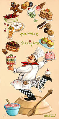 Whimsical Chef Dessert Delights Original