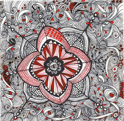 Emerging Artist Drawing - Whimsical Eyes by Anita Lewis