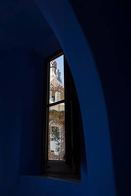 Photograph - Whimsical Fanciful Antoni Gaudi - Inside And Outside by Georgia Mizuleva