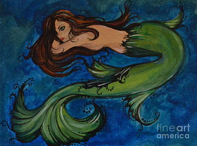 Painting - Whimsical Mermaid by Valarie Pacheco