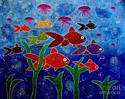 Painting - Whimsical Painting- Ocean Life by Priyanka Rastogi