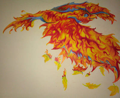 Pheonix Drawing - Whimsical Pheonix by Melissa Sink